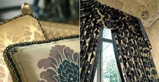 Black And Gold Curtain Fabric Augusta Fabric Collection Curtains Blinds