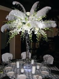 ostrich feather centerpieces ostrich feather and flower centerpieces like this item ostrich