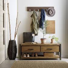 vintage coat rack in small space which looks beautiful through its