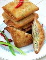 membuat martabak di rice cooker martabak telur egg with ground mutton or beef and green onion