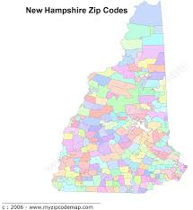 Illinois Zip Codes Map by New Hampshire Map
