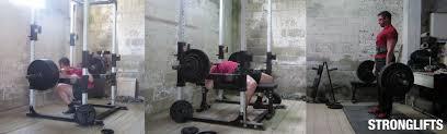 Bench Squat Deadlift Stronglifts 5x5 Workout Beginner Training Program For Strength