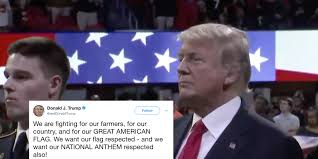 Our Flag Trump Demands Respect For National Anthem Forgets The Lyrics