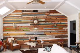 Reclaimed Wood Home Decor Astounding Reclaimed Wood Feature Wall 79 In Home Decor Photos