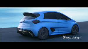 renault race cars renault zoe e sport plays with a race car youtube