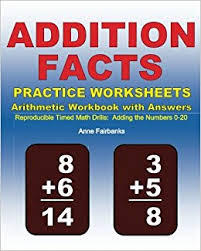 addition facts practice worksheets arithmetic workbook with