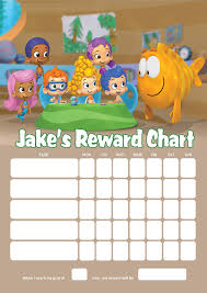 personalised bubble guppies reward chart adding photo option available
