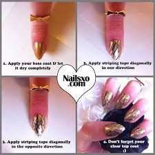 easy step by step gold striping tape nail art tutorial criss cross