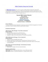 Resume Template Mba Resume Sample Mba Graduate Template Finance And Marketing College