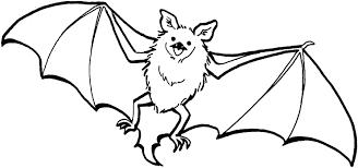 bat drawing kids draw bat halloween easy