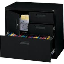 Quill File Cabinets Mbi Black Lateral File Center Quill Com