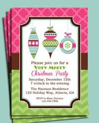 Christmas Ornament Party Invitations - christmas favorite things invitation printable or printed w free