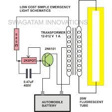 how emergency light works 20 watt tubelight emergency light circuit diagram