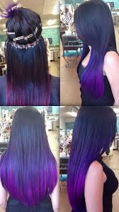 sewn in hair extensions silicone beaded sew in hair extensions purple ombré