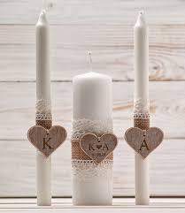 bougie personnalisã e mariage ensemble de cérémonie mariage unité bougie ensemble rustique