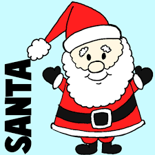 easy instructions draw santa clause kids