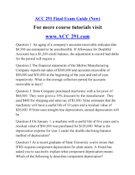 acc 291 final exam guide new by morrisreid issuu