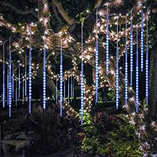 led meteor shower tube lights bluefire upgraded 50cm 10 tubes 540 led meteor shower rain lights