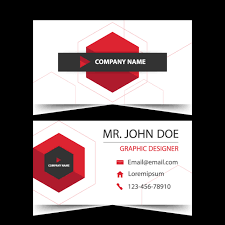 business card name card template horizontal simple clean layout