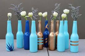 Blue Flower Vases 22 Diy Flower Vases For Your Fave Blossoms Home Design Lover
