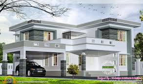 Kerala Home Design Flat Roof Elevation by 2875 Square Feet Flat Roof Home Kerala Home Design And Floor Plans