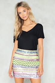 sequin skirt hey bright sequin skirt shop clothes at gal