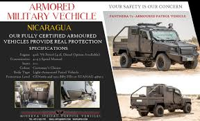military vehicles armoured vehicles nicaragua bulletproof cars nicaragua cash in