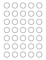1 Inch Circle Template by Printable 1 Inch Circle Template