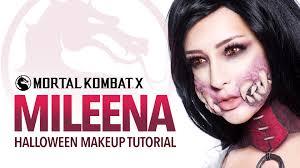 Makeup Tutorial Halloween by Mileena Halloween Makeup Tutorial Youtube