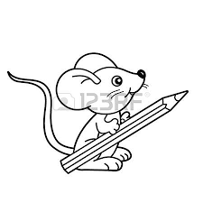 coloring page outline of cartoon cat playing with toy clockwork