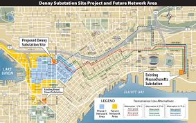 Neighborhoods Seattle Map by Denny Substation Bringing Light To Growing Neighborhoods The