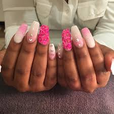 nail art awful pink and white nails photo design step by french