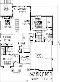 5 Bedroom Floor Plans 1 Story by Home Design 653916 Two Story 5 Bedroom 45 Bath Traditional Style