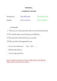Resume Cover Letter Closing Spanish Letter Closing It Resume Cover Letter Sample