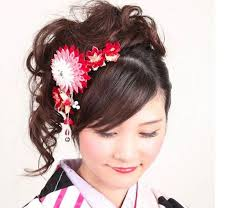 kimono hair in japan