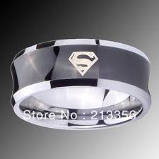 superman wedding rings e c jewelry free shipping usa wholesales cheap price 8mm