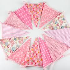 Bunting Flags Wedding 12 Flags 2 7m Cotton Fabric Banners Personality Wedding Bunting