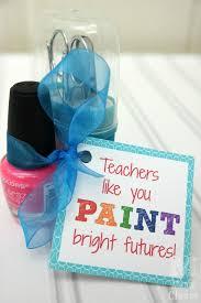 teacher nail polish gift idea free printable tag appreciation