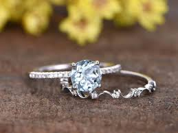 Promise Ring Engagement Ring And Wedding Ring Set by 18k White Gold Engagement Ring And Diamond Promise Ring For Her