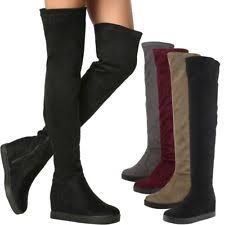 womens the knee boots size 9 wedge knee boots for us size 9 ebay