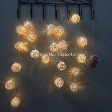 Led Patio Lights String by Aliexpress Com Buy 5cm Big 20 Rattan Ball Lights String Battery