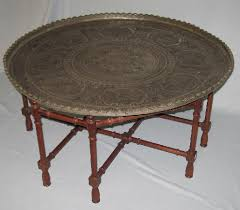 Metal Tray Coffee Table Coffee Table Embossed Indian Metal Tray With 1351636