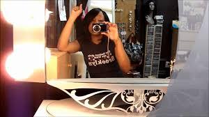 vanity starlet table top lighted vanity mirror youtube
