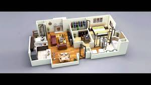 One Room House Floor Plans 25 One Bedroom House Apartment Plans Youtube