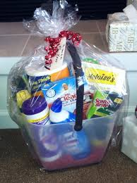 a bucket of cleaning supplies for a bridal shower gift perfect