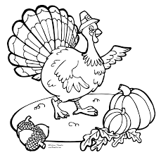 print coloring page thanksgiving turkey