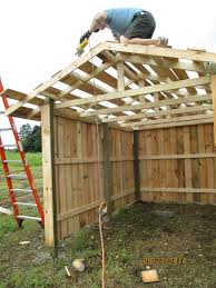 How To Build A Pole Shed Roof by Cleaning Up The Roof Purlins On Our Small 8x16 Three Sided