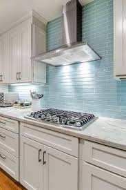 inspiration blue glass tile backsplash pictures with stainless