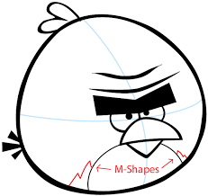 draw terence angry birds space easy step step