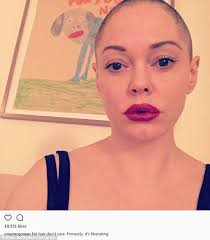 pictures of short hair do s back dise and front views rose mcgowan reveals why she shaved her hair off daily mail online